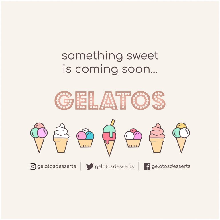 Gelatos coming soon promo